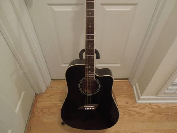 kona acoustic guitar black with white trim reverb. Black Bedroom Furniture Sets. Home Design Ideas
