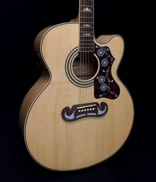 Epiphone EJ-200CE Natural Gold