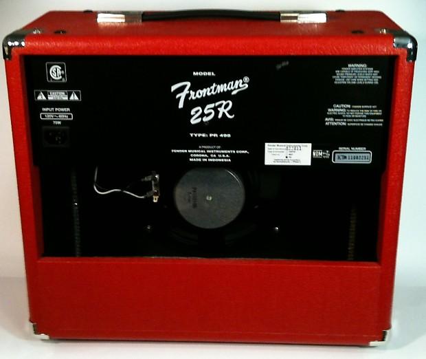 fender frontman 25r red electric guitar amplifier reverb. Black Bedroom Furniture Sets. Home Design Ideas