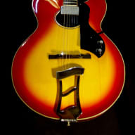 <p>Hagstrom  D&#039;aquisto 1977 3 Tone Sunburst. EXTREMELY RARE Oval Hole. Only 150 built.</p>  for sale