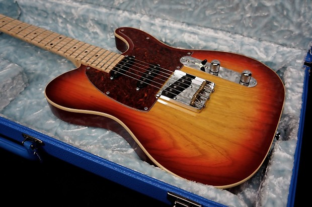 gj2 guitars hellhound tele in sunburst with bound ash body by reverb. Black Bedroom Furniture Sets. Home Design Ideas