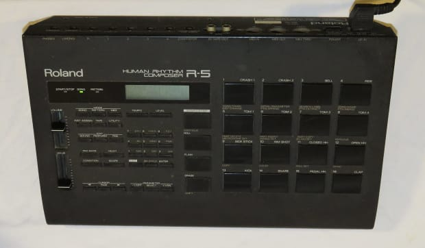roland r 5 r5 39 human rhythm composer 39 drum machine reverb. Black Bedroom Furniture Sets. Home Design Ideas