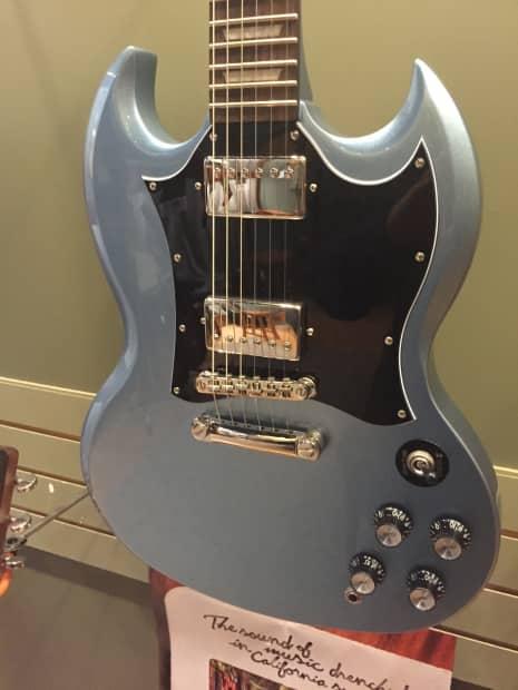 epiphone sg g400 pro electric guitar pelham blue finish w reverb. Black Bedroom Furniture Sets. Home Design Ideas