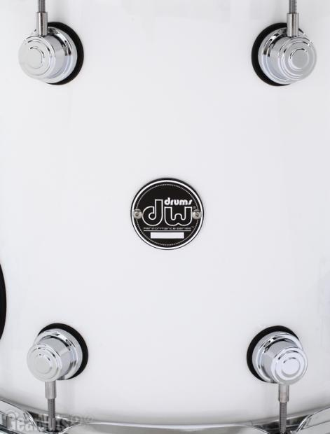 Dw performance series floor tom 12x14 gloss white for 16 x 12 floor tom