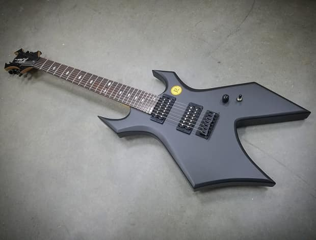 bc rich mk1 warlock 7 string shadow black electric guitar reverb. Black Bedroom Furniture Sets. Home Design Ideas