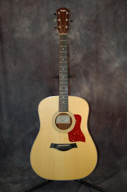 taylor used 210e dreadnought acoustic electric guitar deluxe taylor gigbag 2012 natural reverb. Black Bedroom Furniture Sets. Home Design Ideas
