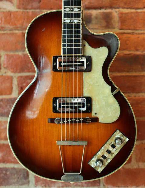 1960 39 s vintage hofner club 60 electric hollow body guitar reverb. Black Bedroom Furniture Sets. Home Design Ideas