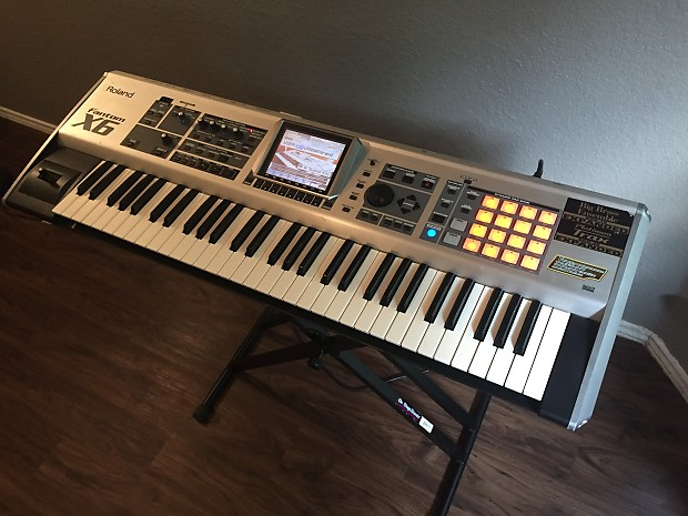 roland fantom x6 keyboard synthesizer excellent used piano reverb. Black Bedroom Furniture Sets. Home Design Ideas