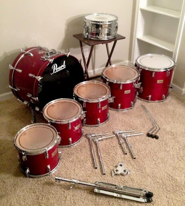pearl dlx professional series 7 piece drum set w hardware reverb. Black Bedroom Furniture Sets. Home Design Ideas