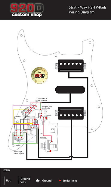 Seymour Duncan P  Little 59 White Hsh Loaded