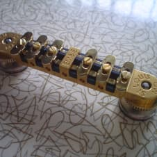 Embie Concepts Gold Embie-Matic Melita Style Adjustable Guitar Bridge Assembly w/ Floating Slugs image