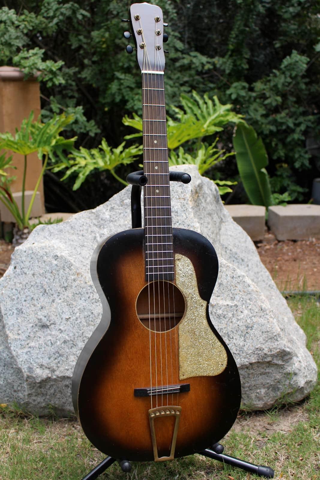 Vintage Regal Acoustic Parlor Guitar 1930s USA Restored