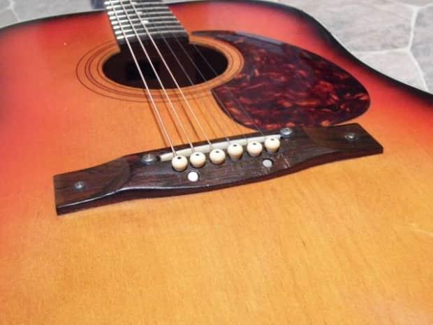 vintage egmond fullsize dreadnought guitar gitarre guitare reverb. Black Bedroom Furniture Sets. Home Design Ideas