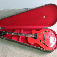 <p>Vintage 1966 Vox Typhoon Wine Red Guitar Replaced Knobs &amp; Pick Up Player Grade</p>  for sale