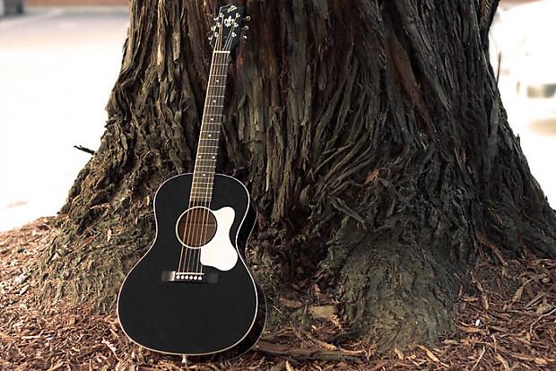 the loar vintage style l 00 small body acoustic guitar black reverb. Black Bedroom Furniture Sets. Home Design Ideas