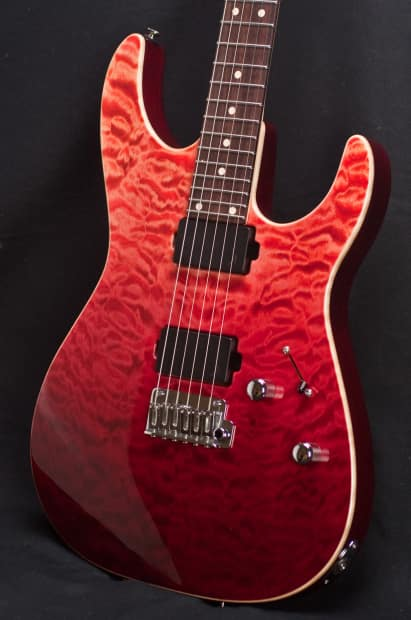 anderson angel surf red w binding electric guitar 04 14 15a reverb. Black Bedroom Furniture Sets. Home Design Ideas