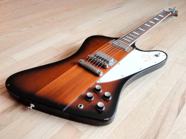 2001 gibson firebird v sunburst electric guitar w reverb. Black Bedroom Furniture Sets. Home Design Ideas