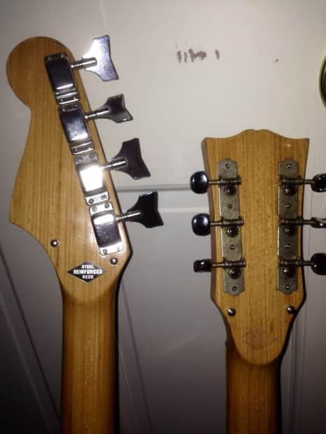 kawai telestar doubleneck bass guitar semi hollow 1968 red reverb. Black Bedroom Furniture Sets. Home Design Ideas