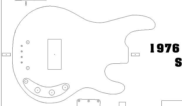 1976 music man stingray bass routing template vinyl sticker reverb. Black Bedroom Furniture Sets. Home Design Ideas