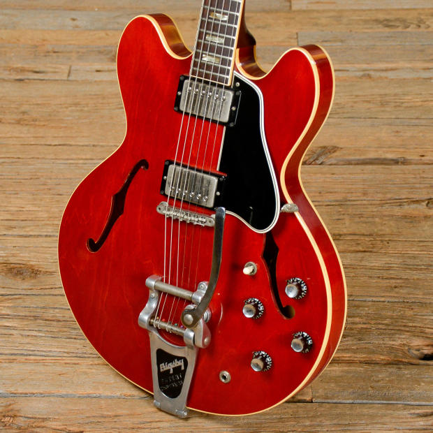gibson es 335 cherry w bigsby 1964 s564 reverb. Black Bedroom Furniture Sets. Home Design Ideas