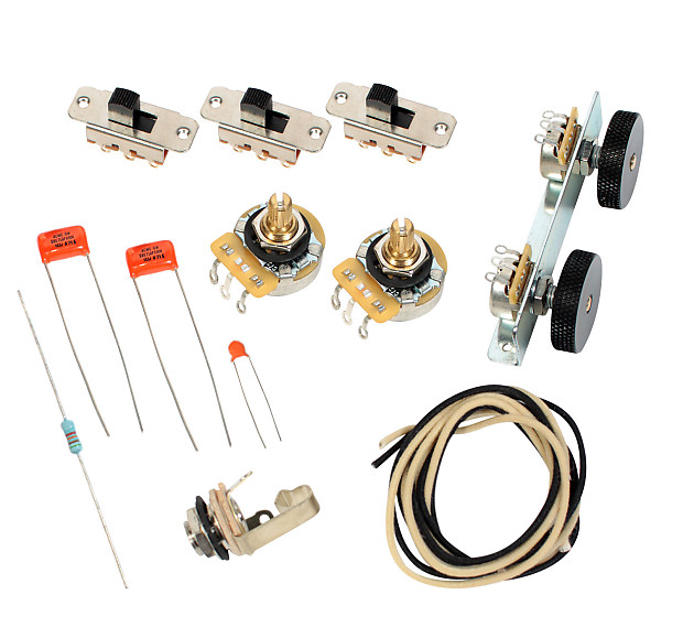 fender vintage 39 62 jaguar wiring kit pots switch slider reverb. Black Bedroom Furniture Sets. Home Design Ideas