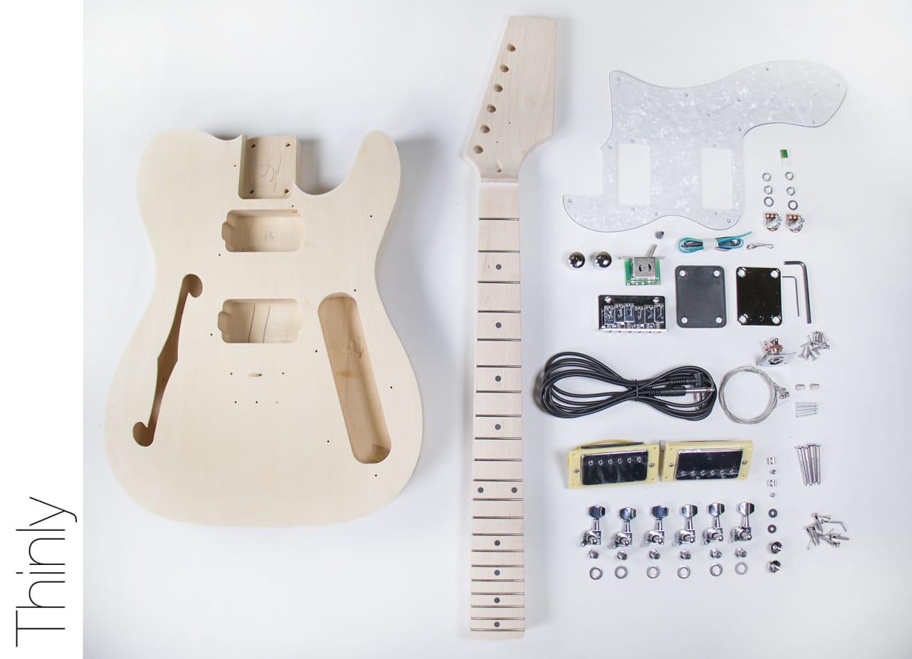 Fretwire Diy Guitar Kit : the fretwire diy electric guitar kit tele thinline style reverb ~ Russianpoet.info Haus und Dekorationen