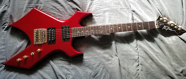 bc rich warlock nj mid 80 39 s red with coffin case reverb. Black Bedroom Furniture Sets. Home Design Ideas