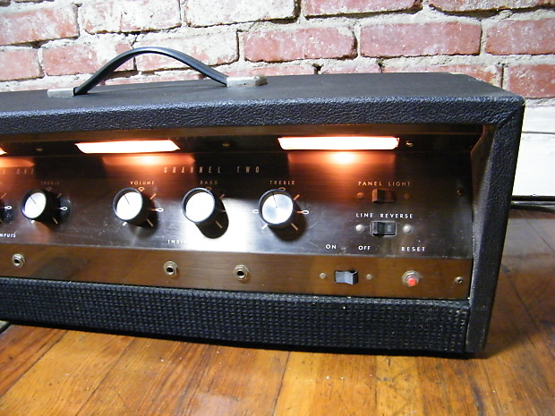airline valco gim 9151a stereo amp head 1960 39 s two 6l6 heads reverb. Black Bedroom Furniture Sets. Home Design Ideas