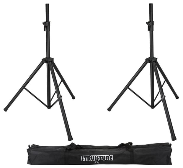 Strukture aluminum speaker stand pack saspk2b reverb for Stand pack