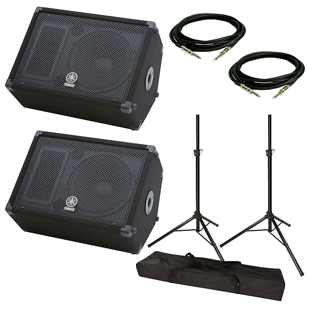 yamaha br12m stage monitor speaker pair with speaker stand reverb. Black Bedroom Furniture Sets. Home Design Ideas