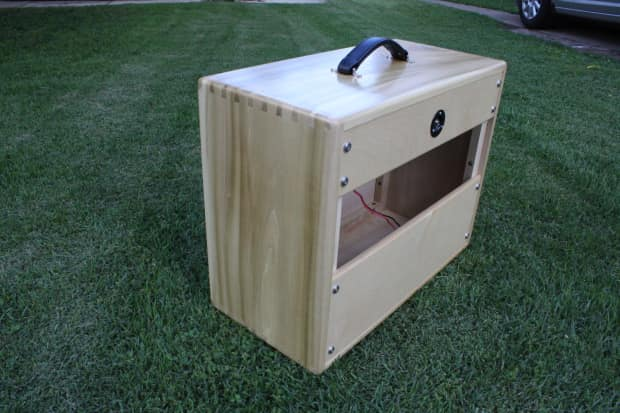 b custom cabs 1x12 custom guitar speaker cab solid poplar reverb. Black Bedroom Furniture Sets. Home Design Ideas