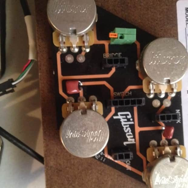gibson les paul complete wiring assembly 2012 black reverb. Black Bedroom Furniture Sets. Home Design Ideas