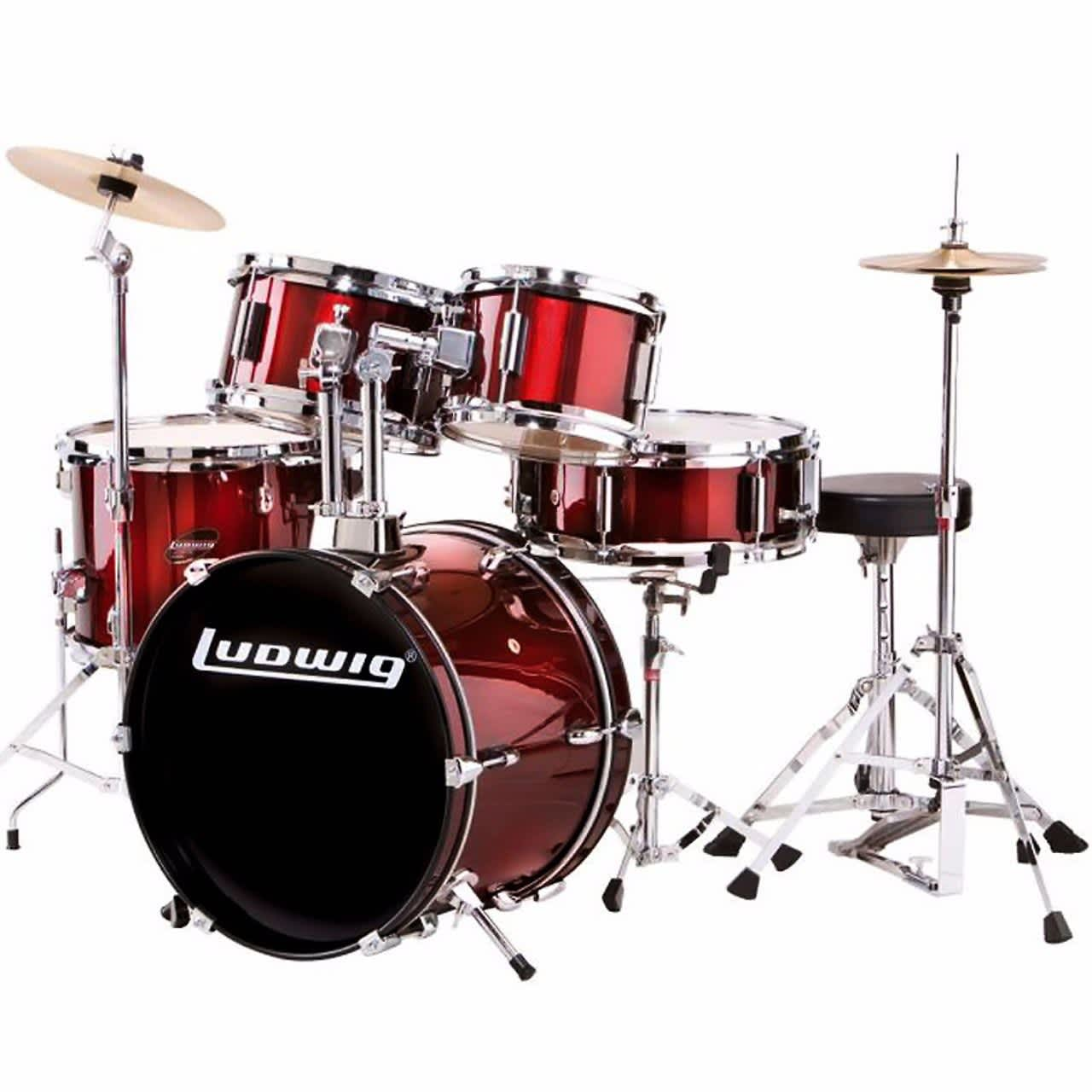 new ludwig ljr106 child size 5 piece complete junior drum set reverb. Black Bedroom Furniture Sets. Home Design Ideas