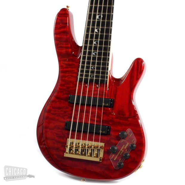 Yamaha john patitucci signature 6 string bass trans red for Yamaha 6 string bass