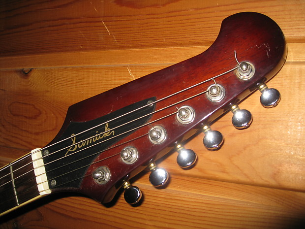 rare electric guitar samick firebird type japanese domestic reverb. Black Bedroom Furniture Sets. Home Design Ideas