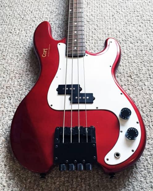 Cort Steinberger Headless P Bass Guitar Candy Red Reverb