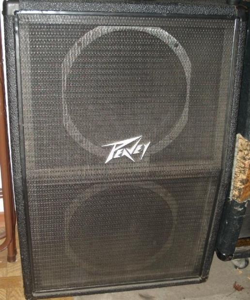 Peavey 212mc 1982 Black 2x12 Vertical Guitar Speaker
