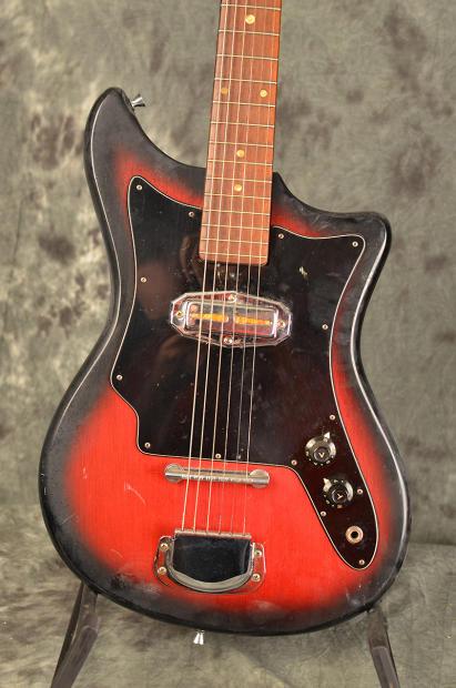 teisco vintage 1960s single pickup electric guitar barn find project 1960s red burst reverb. Black Bedroom Furniture Sets. Home Design Ideas