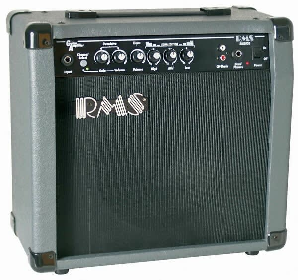 rms g20 20 watt electric guitar practice amplifier amp with reverb. Black Bedroom Furniture Sets. Home Design Ideas