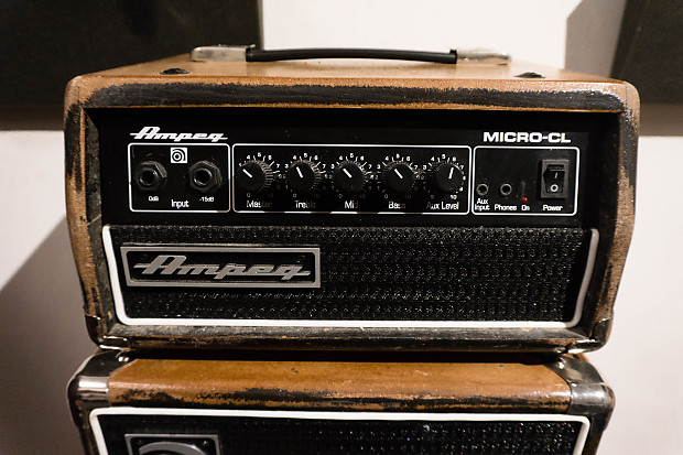 ampeg micro cl 100w bass amp stack 2015 natural reverb. Black Bedroom Furniture Sets. Home Design Ideas