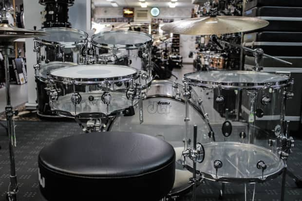 dw design series acrylic 5 piece drum set reverb. Black Bedroom Furniture Sets. Home Design Ideas