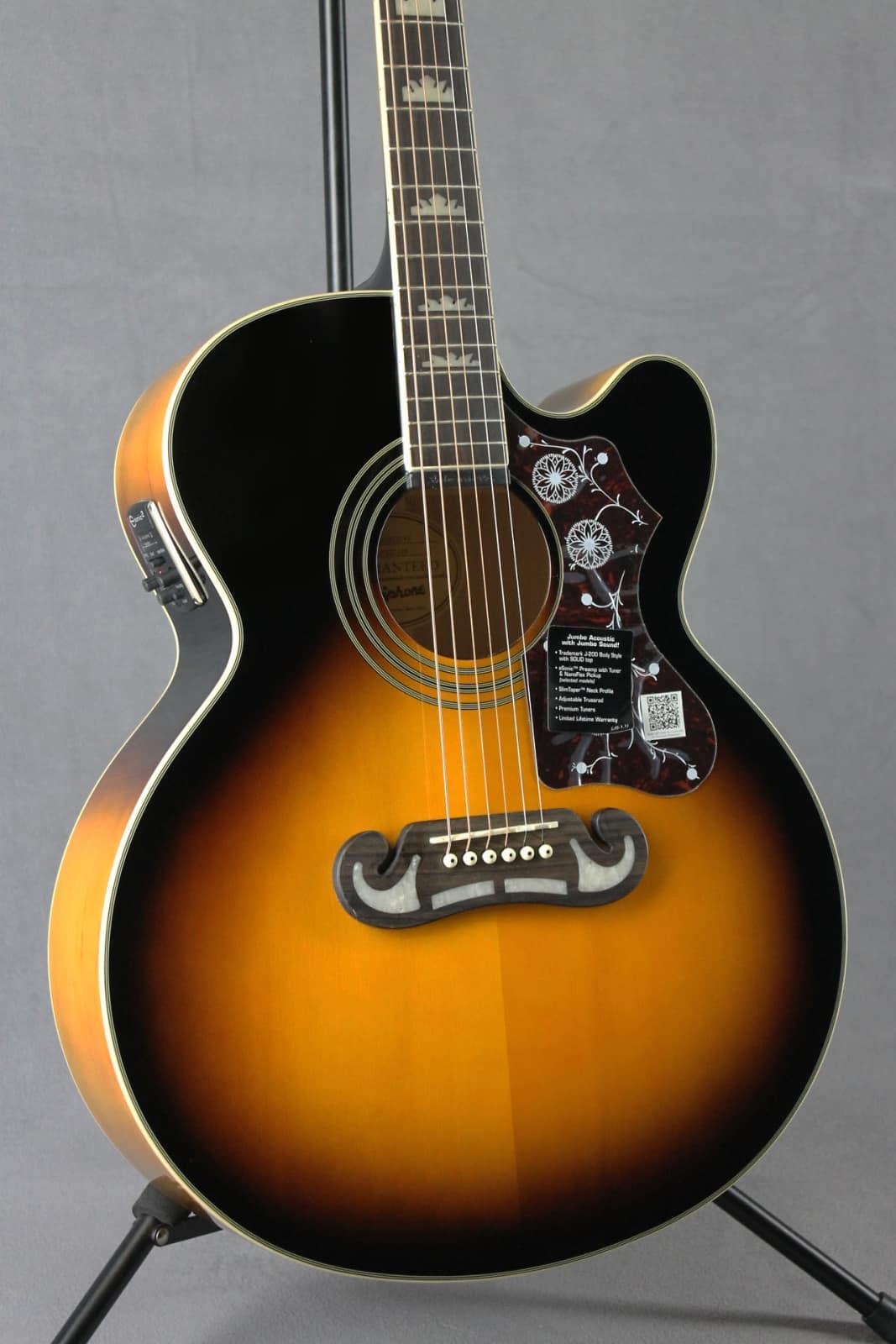Epiphone EJ 200CE Jumbo Electric Acoustic Guitar Vintage