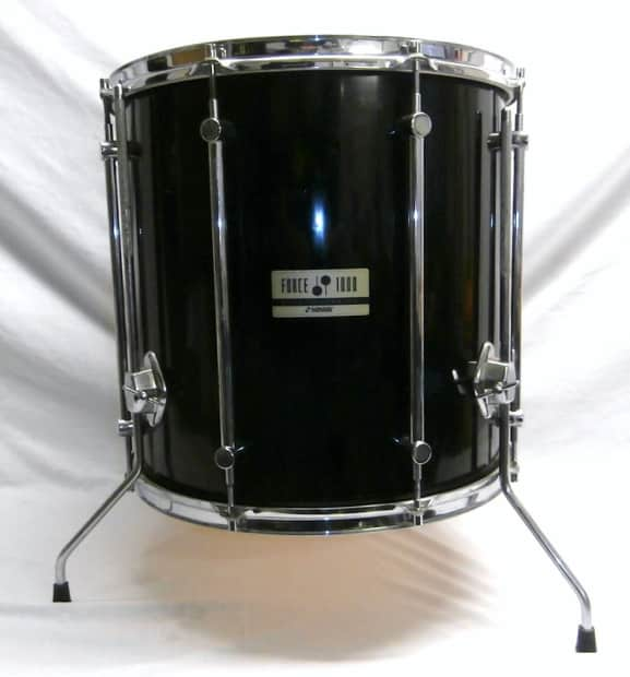 1990 S Sonor Germany Force 1000 5 Piece Black Drum Kit