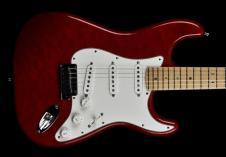 Fender  Custom Shop Custom Deluxe Strat 2013 Candy Red Transparent image