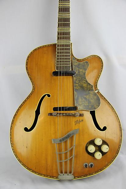 hofner model 463 archtop jazz guitar 1950 39 s blonde for reverb. Black Bedroom Furniture Sets. Home Design Ideas