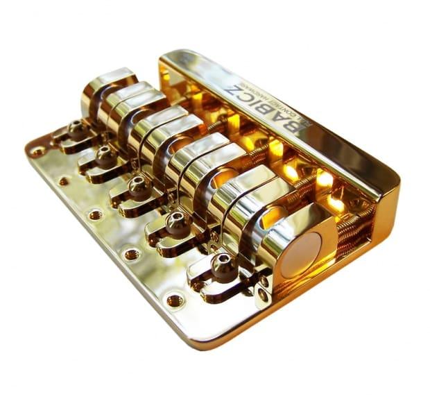 babicz full contact hardware 5 string bass bridge gold fch5gd reverb. Black Bedroom Furniture Sets. Home Design Ideas