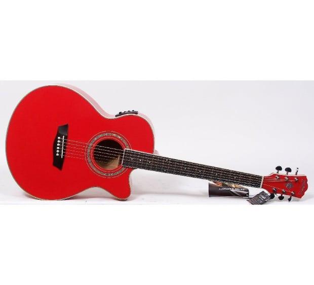 washburn festival series ea12r red acoustic electric guitar reverb. Black Bedroom Furniture Sets. Home Design Ideas