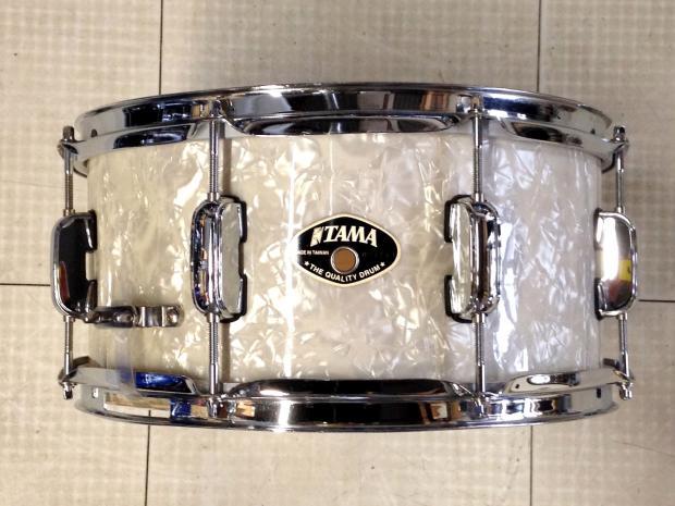 used tama snare drum 13x6 5 white marine pearl reverb. Black Bedroom Furniture Sets. Home Design Ideas
