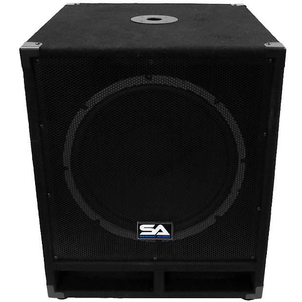 powered 15 subwoofer cabinet pa dj pro audio band speaker reverb. Black Bedroom Furniture Sets. Home Design Ideas