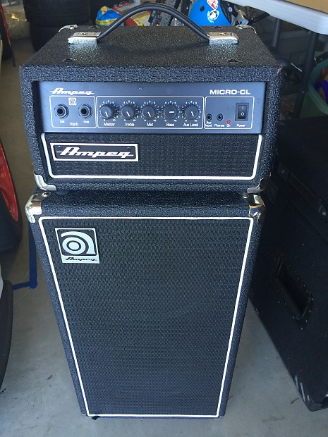 ampeg micro cl black practice bass amp with aux and headphone reverb. Black Bedroom Furniture Sets. Home Design Ideas